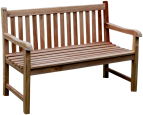 Solid Teak Classic 'Park' Bench 130cm