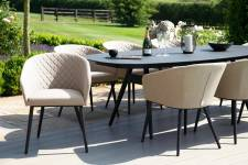 Ambition 8 Seater Oval Dining- Taupe