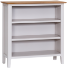 Freya Painted Oak Small Wide Bookcase