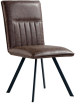 Dining Chair With Metal Legs- Brown
