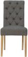 Scroll Button Back Fabric Chair- Dark Grey
