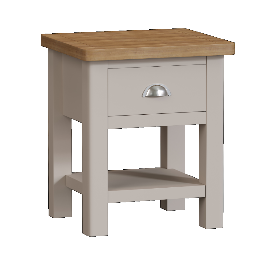 Isabella Painted Oak Lamp Table