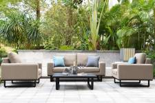 Ethos 2 Seater Sofa Set- Taupe