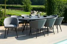 Ambition 8 Seater Oval Dining- Flanelle