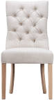 Curved Button Back Chair- Beige