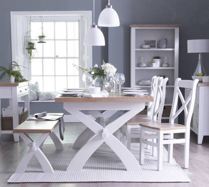 Blue Lagoon Furniture Pippa Painted Oak Living And Dining Collection