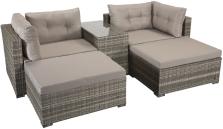 Hanover Modular Stacking Sofa Set- Grey