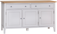Freya Painted Oak 3 Door Sideboard