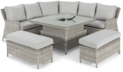 Cambridge Royal Corner Sofa Dining Set With Rising Table And Ice Bucket