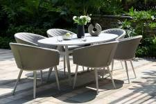Ambition 6 Seater Oval Dining- Lead Chine