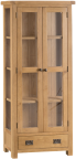 Belle  Oak Display Cabinet With Glass Doors