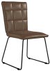 Panel Back Chair With Angled Legs- Brown