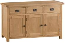 Belle Oak 3 Door Sideboard
