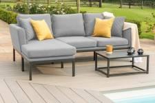 Pulse Chaise Sofa Set- Flanelle
