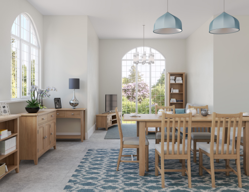 Blue Lagoon Furniture Rosie Oak Living And Dining Collection