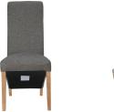 Wave Back Fabric Chair- Dark Grey