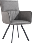 Carver Dining Chair With Metal Legs- Grey