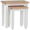 Rosie Painted Oak Nest Of 2 Tables- White