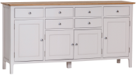 Freya Painted Oak 4 Door Sideboard