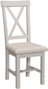 Isabella Painted Oak Chair With Fabric Seat