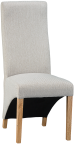 Wave Back Fabric Chair- Cappuccino