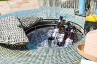Oxford 6 Seat Round Bar Set With Ice Bucket