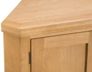 Belle Oak Corner Cupboard