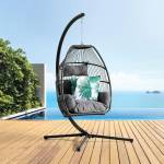 Napoli FOLDING Hanging Chair- Grey