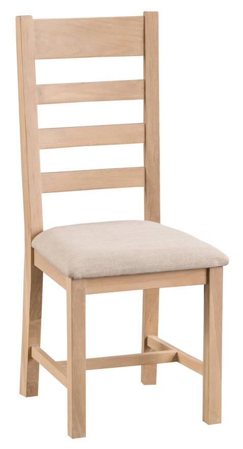 Oak Ladder Back Chair Fabric Seat