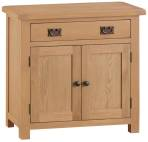 Belle Oak Small 2 Door 1 Drawer Sideboard