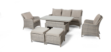 Cotswold 3 Seat Sofa Dining Set With Rising Table