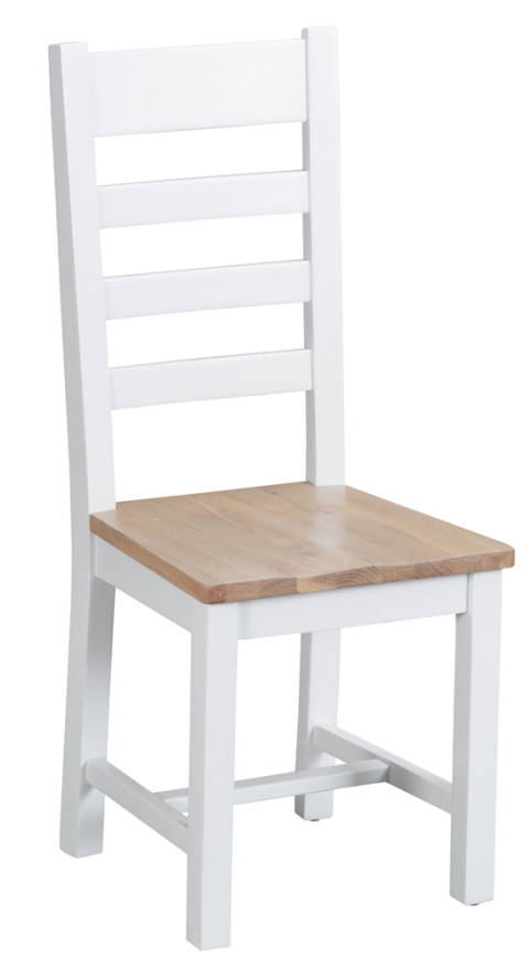 Ladder Back Chair Wooden Seat