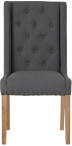 Button Back Studded Dining Chair Grey