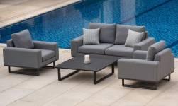 Ethos 2 Seater Sofa Set- Flanelle
