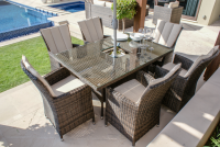 LA 6 Seat Rectangle Dining Set With Ice Bucket