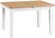 Pippa Grey/ White Painted Oak 1.2 Butterfly Extending Table With Lime- Washed Oak Top