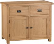 Belle Oak 2 Door 2 Drawer Sideboard