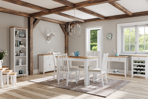 Blue Lagoon Furniture Rosie Painted Oak Living And Dining Collection