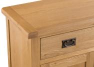 Belle Oak Small 2 Door 1 Drawer Sideboard