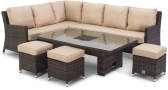Venice Corner Sofa Dining Set With Rising Table And Ice Bucket