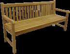Solid Teak Classic 'Park' Bench 180cm