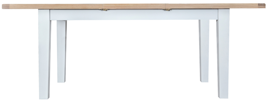 Pippa Painted 1.6 Butterfly Extending Table With Lime- Washed Oak Top- White