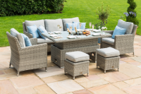 Oxford Sofa Dining Set With Rising Table And Ice Bucket