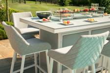 Regal 8 Seater Bar Set With Firepit Table- Lead Chine