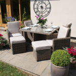 9 Piece Cube Set With Footstools