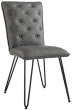 Studded Back Chair With Hairpin Legs- Grey