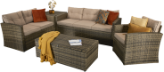 Winchester Sofa Set With Built In Storage- Brown