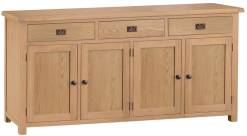 Belle Oak 4 Door Sideboard
