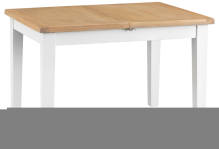 Pippa Painted 1.2 Butterfly Extending Table With Lime- Washed Oak Top- White