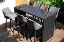 Regal 6 Seater Rectangular Bar Set- Flanelle